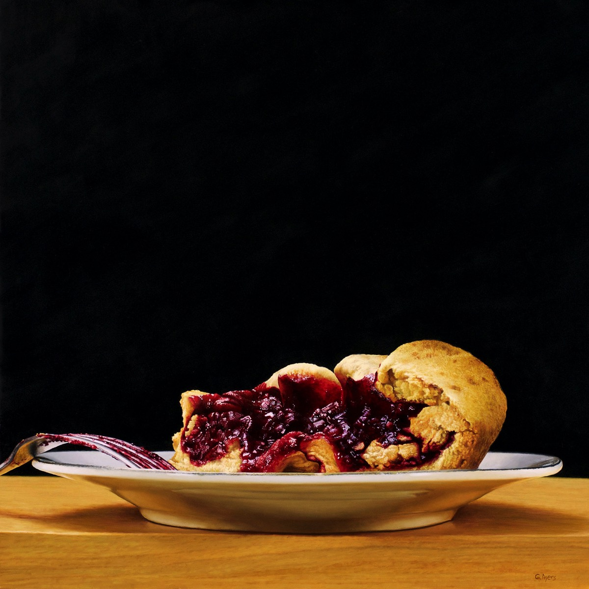 Blackberry Crostata - 24x24 - SOLD