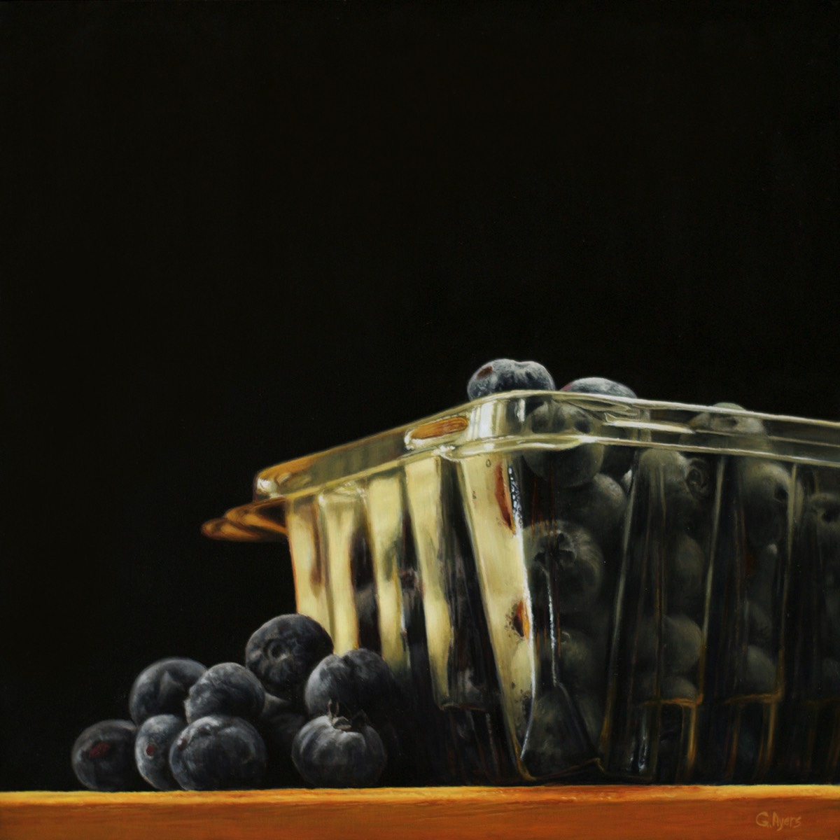 Blueberries - 10x10 - sold