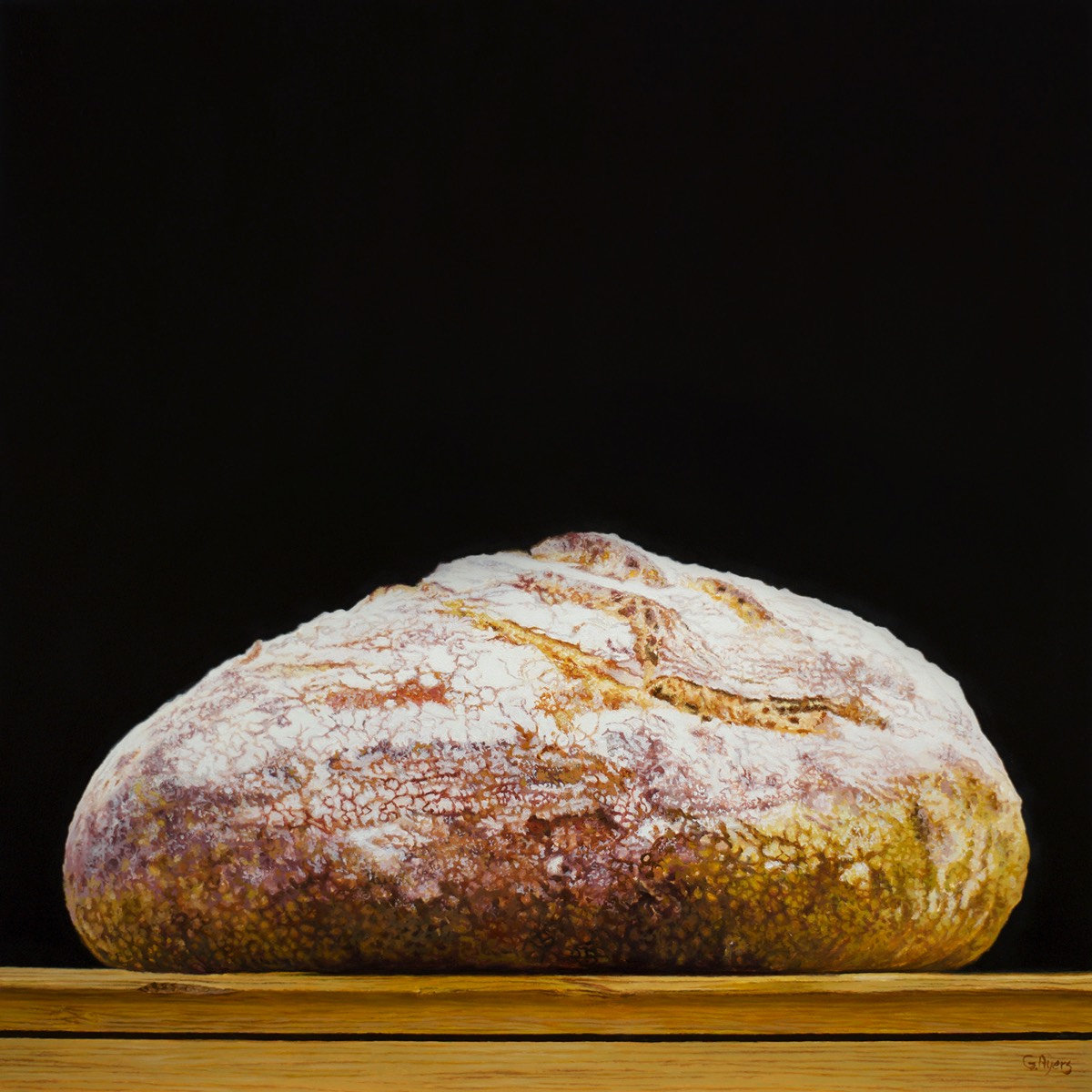 Bread - 12x12  - commission