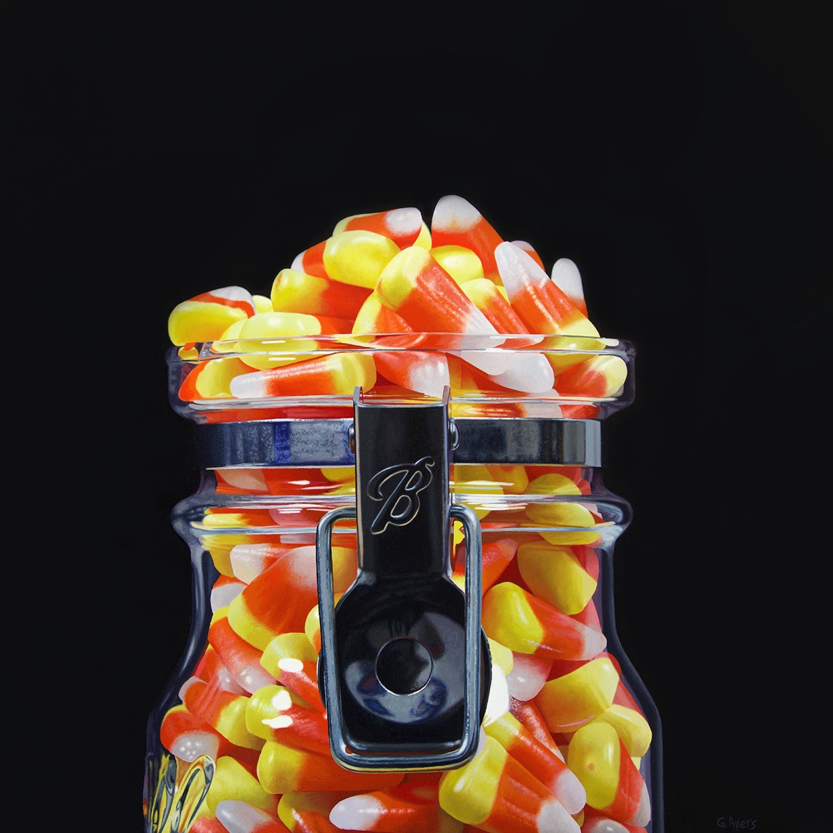 Candy Corn 2 - 16x16- SOLD