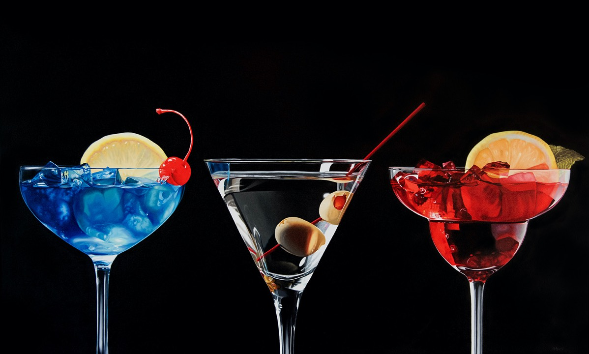 Cocktails - 36x 60 - oil on panel