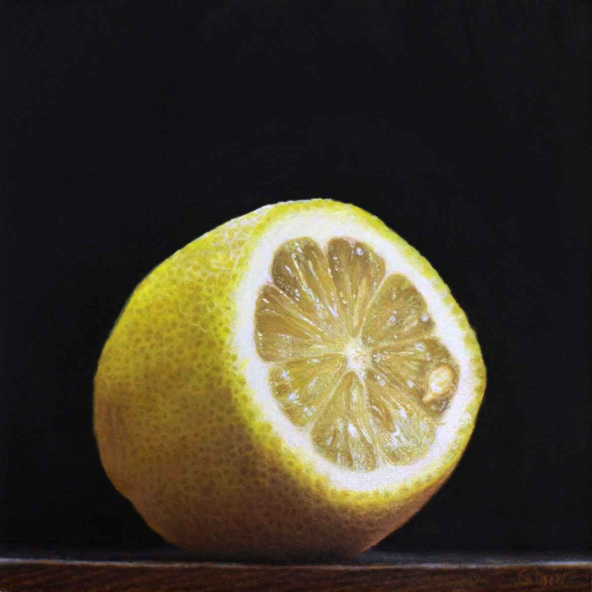 Lemon - 6x6 - oil on panel