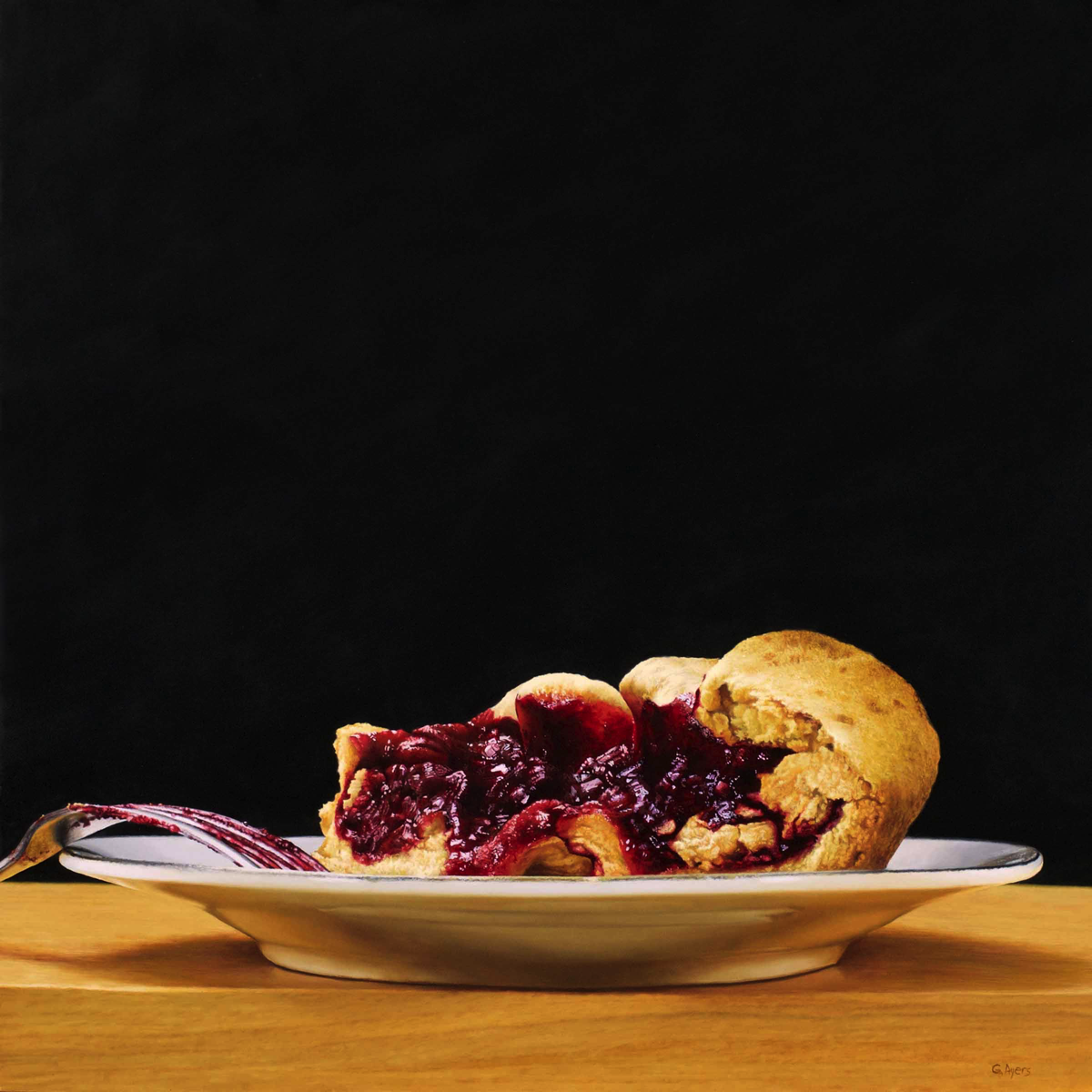 Blackberry Crostata - 24x24 - oil on panel