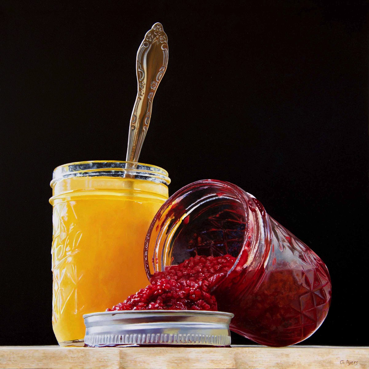 Jams - 12x12 - oil on panel - SOLD