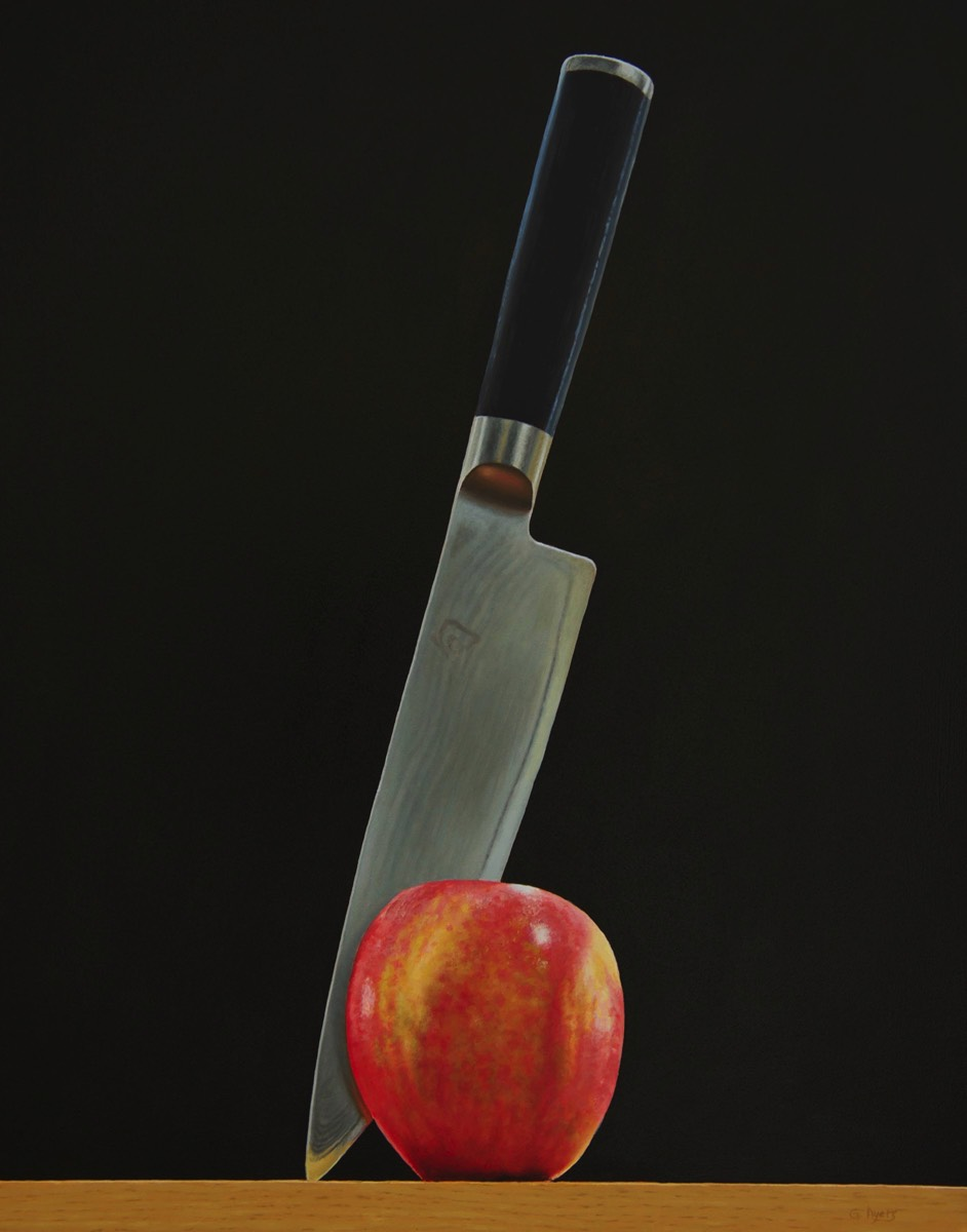 Stab Apple - 11x14 - oil on panel