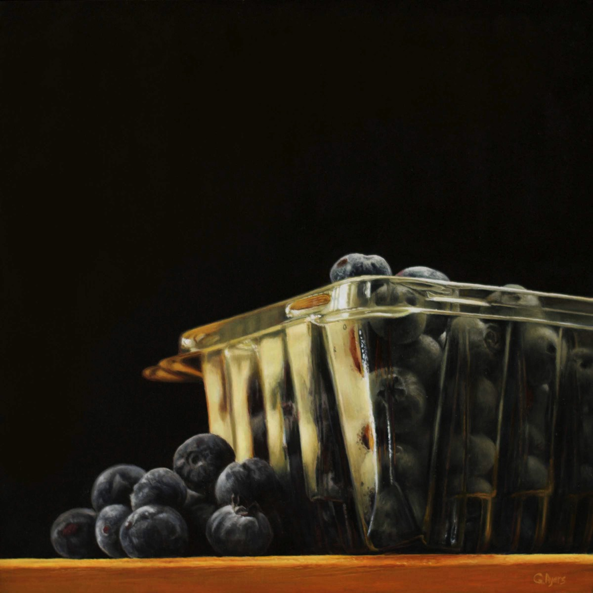 Blueberries - 10x10 - oil on panel - SOLD