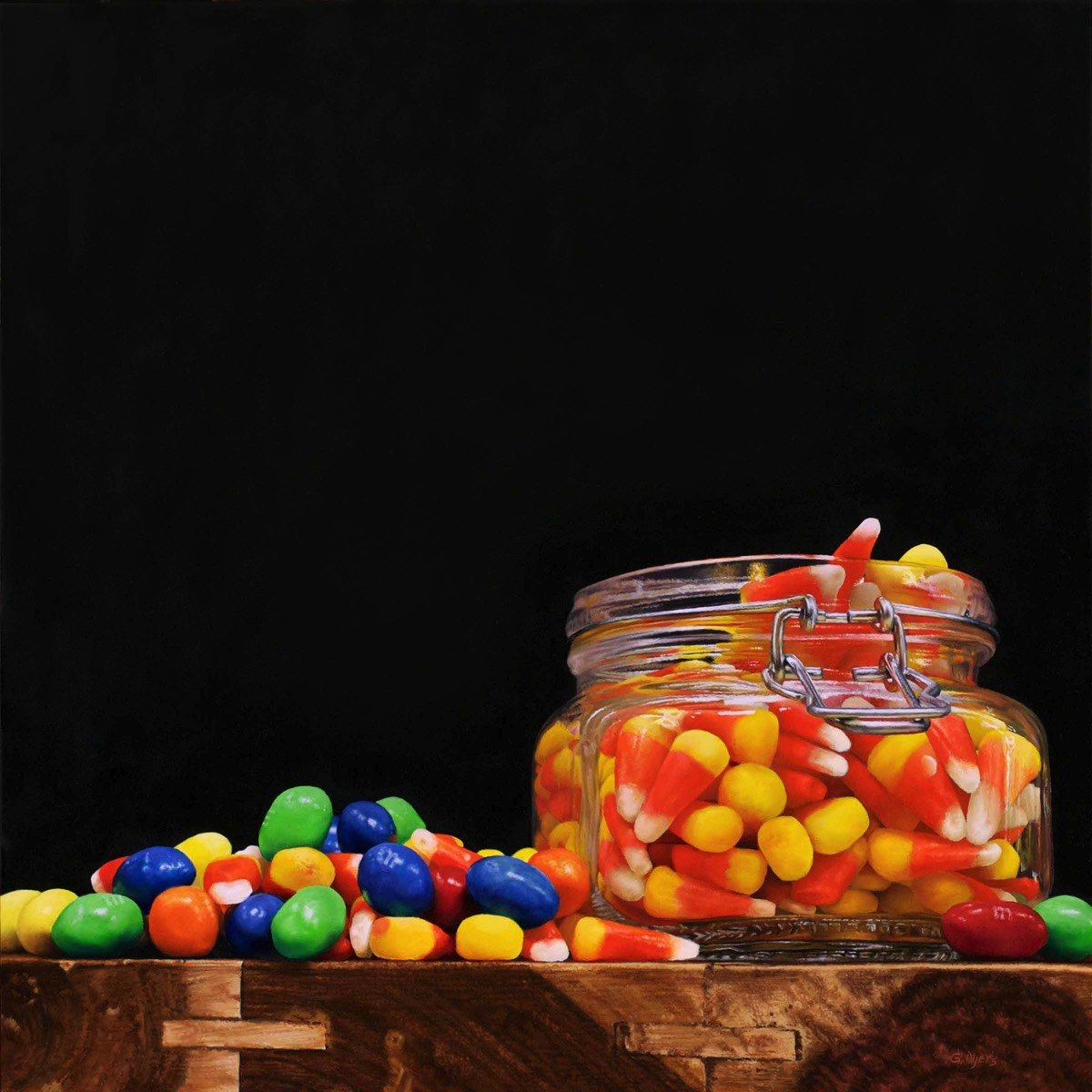 Candy Corn - 16x16 - oil on panel - SOLD