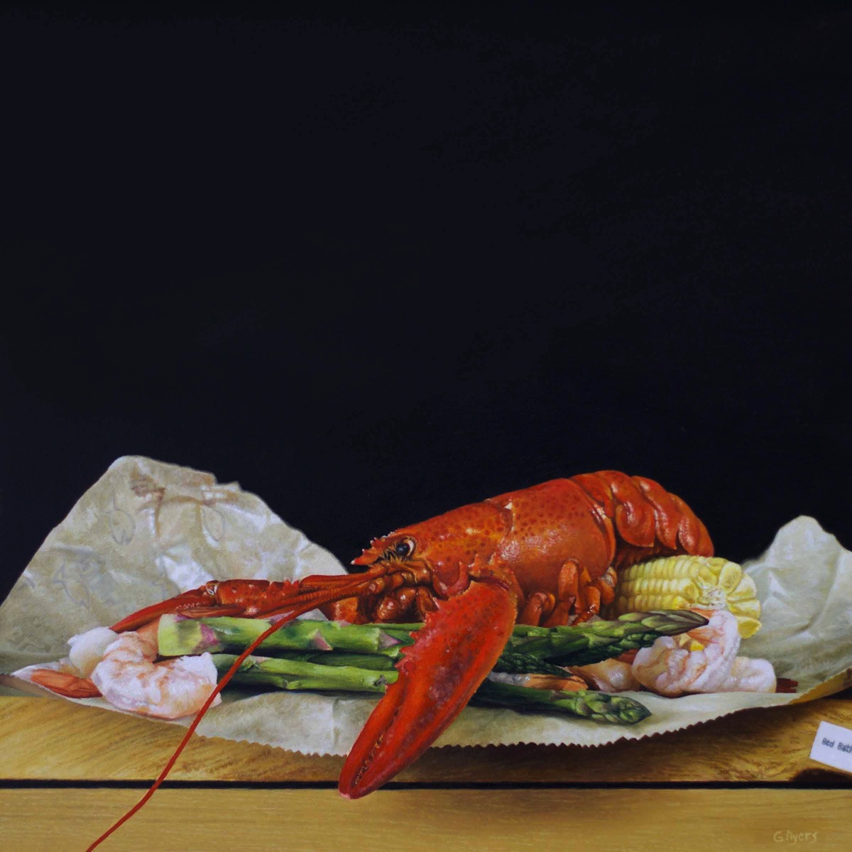 Lobster Boil - 10x10 - oil on panel