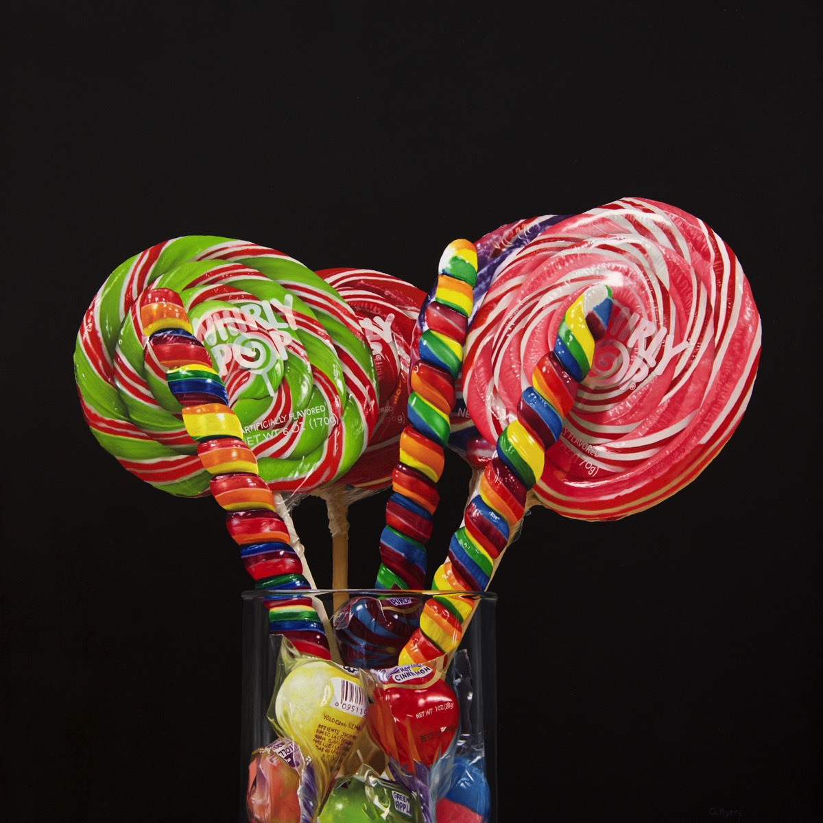 Whirly Pops - 16x16 - oil on panel SOLD
