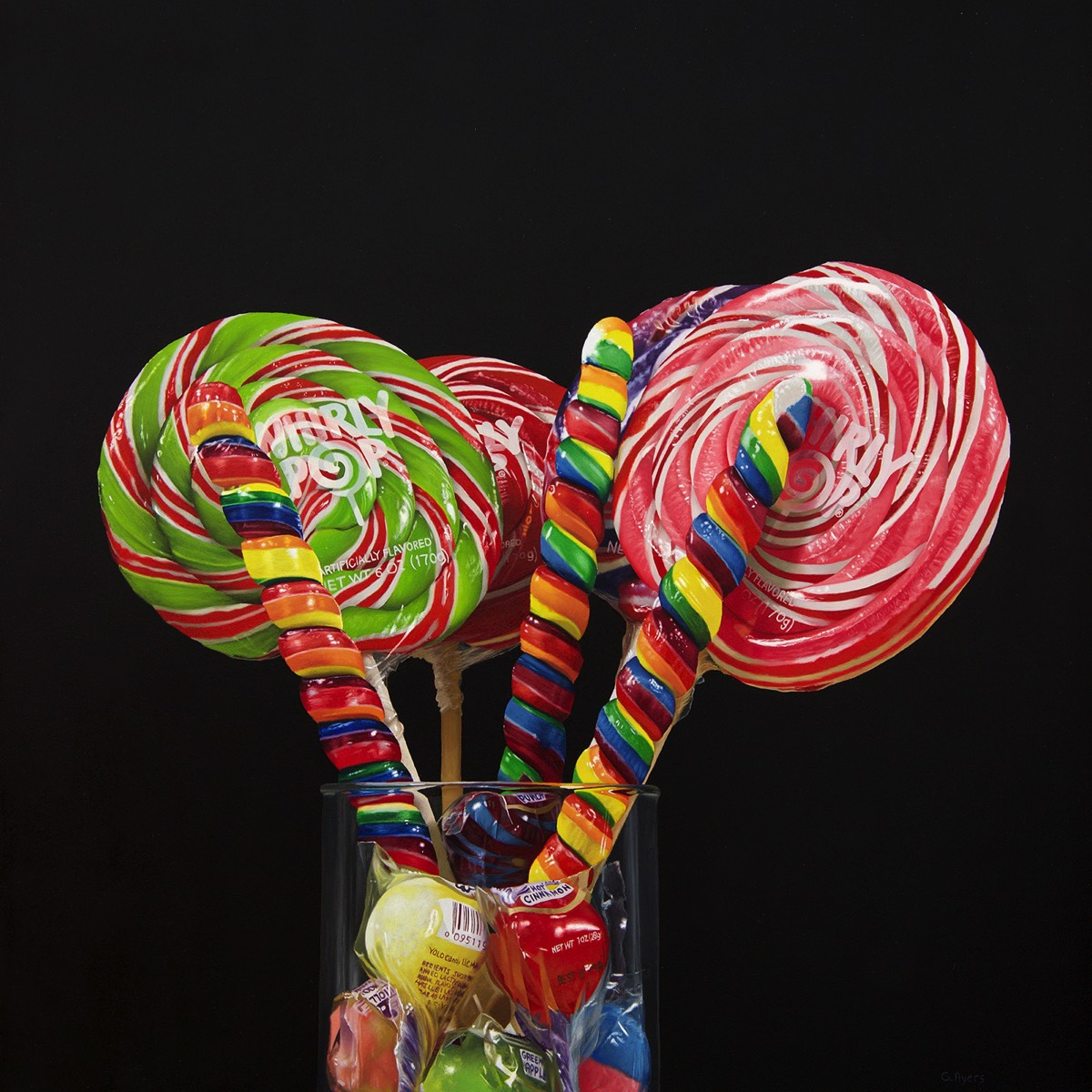 Whirly Pops - 16x16 - SOLD